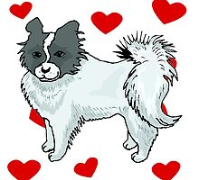 Papillon Love by kwg2200