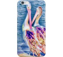 Colourful pelicans iPhone Case/Skin
