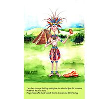 1-The Maya Indian and cocoa drink Photographic Print