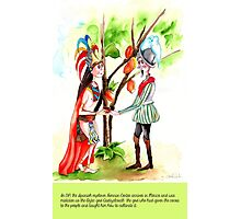 2-Hernan Cortes arrives in Mexico Photographic Print