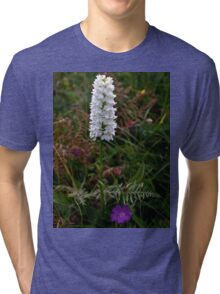 Irish White Orchid, Inishmore Tri-blend T-Shirt