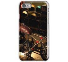 bike in the garage under construction iPhone Case/Skin