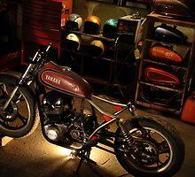 bike in the garage under construction by matttatts