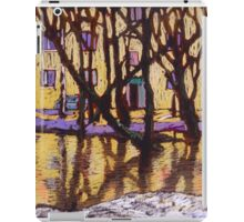 Golden reflections in April iPad Case/Skin