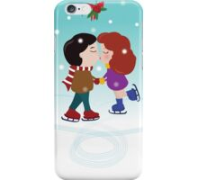 Mistletoe kiss iPhone Case/Skin