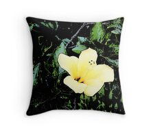 A Pale Yellow Throw Pillow