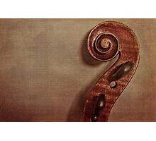 Violin Scroll Photographic Print