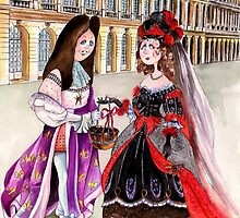 5-Maria Theresa and Louis XIV of France by IsabelSalvador