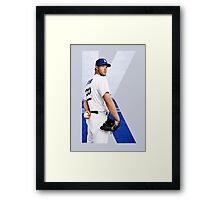 """Beink """"K is for Kershaw""""  Framed Print"""