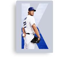 """Beink """"K is for Kershaw""""  Canvas Print"""