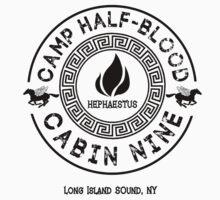 Percy Jackson - Camp Half-Blood - Cabin Nine - Hephaestus One Piece - Long Sleeve