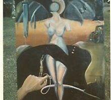Salvador Dali portrait by dummy