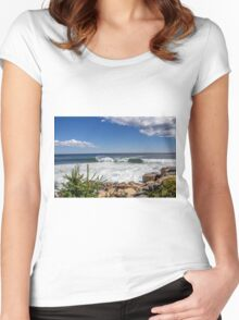 Seascape Acadia National Park  Women's Fitted Scoop T-Shirt