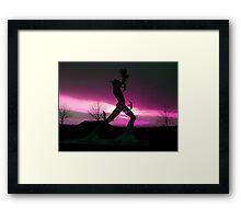 'Man in Motion', Framed Print