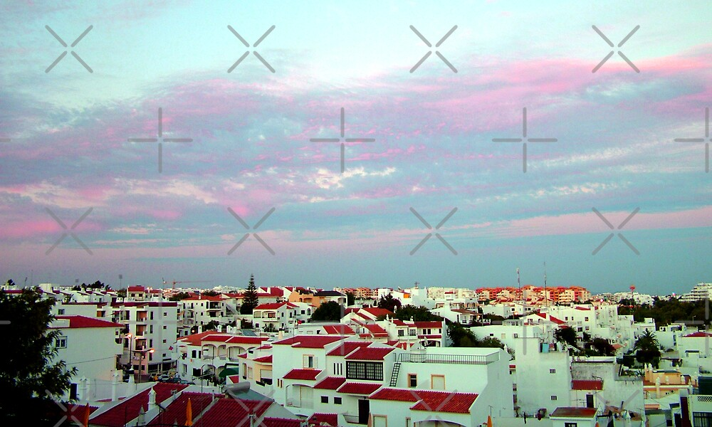 Albufeira rooftops by Tom Gomez