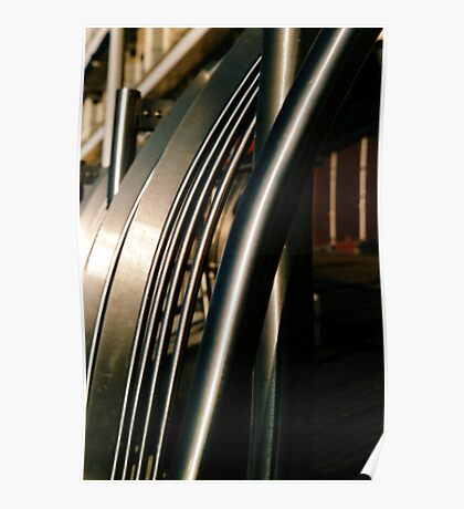 Stainless steel railings Poster