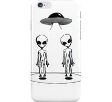 Visiting Aliens iPhone Case/Skin
