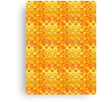 Yellow and Orange Fiery Circle Abstract Design Canvas Print