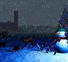 The Snowman's Visitors by kenmo