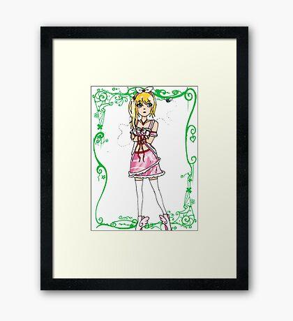 Selfish Doll Framed Print