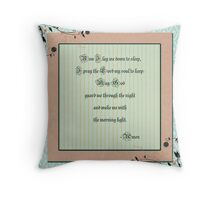 A Child's Prayer Throw Pillow
