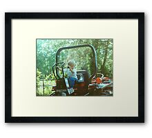 BOYS AND THEIR TOYS Framed Print
