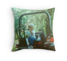 BOYS AND THEIR TOYS Throw Pillow