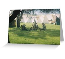 campsite Greeting Card