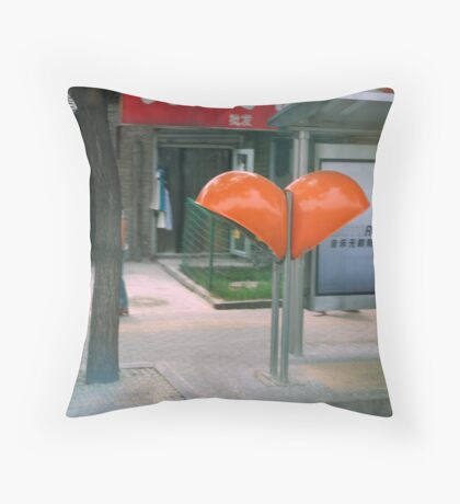 phone booth Throw Pillow