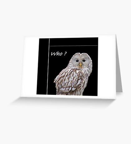 Who? ( just for fun) Greeting Card