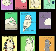 Neurotic Owl: An Owl for All Seasons.  (Except Summer.  Summer's Awful.) by neuroticowl