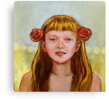 Isabel with Roses Canvas Print