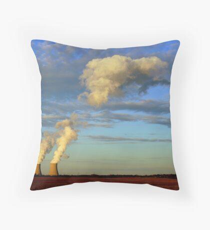 Man Made Clouds Throw Pillow
