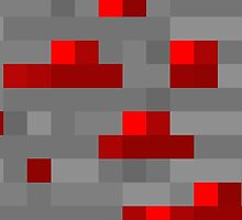 Minecraft Redstone Block by Legitbit