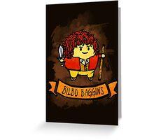 Bouncy Bilbo Greeting Card