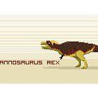 Pixel Tyrannosaurus by David Orr