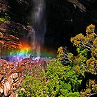 Waterfall Rainbow at Govet's Leap by JoshuaStanley