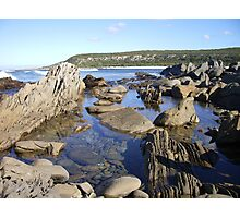 """Rockpool at the """"Sewer"""" Photographic Print"""