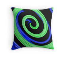 Twirl-a-whirl Throw Pillow