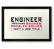 Engineer Framed Print