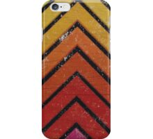 Chevron Stripes Pattern Design Warm Print iPhone Case/Skin