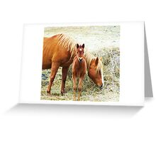 Mama and Little One Greeting Card