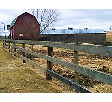Horse Farm Photographic Print