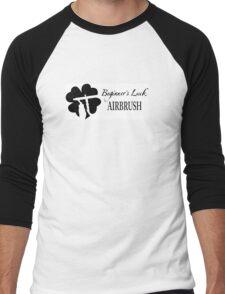Beginner's Luck Airbrush Logo WITH lettering Men's Baseball ¾ T-Shirt