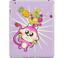 Cute baby zoo animal monkey playing maracas and dancing iPad Case/Skin