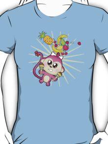 Cute baby zoo animal monkey playing maracas and dancing T-Shirt