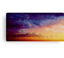 Multicoloured skies Canvas Print