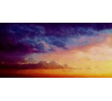 Multicoloured skies Photographic Print