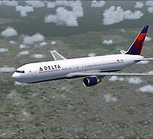 Delta Air Lines Boeing 767-300 by Hernan W. Anibarro
