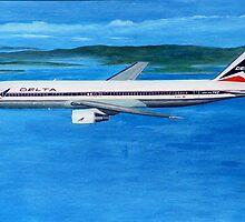 Delta Air Lines Boeing 767-300, circa 1990 by Hernan W. Anibarro